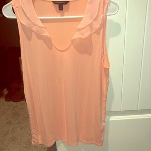 Coral Blouse with ruffles